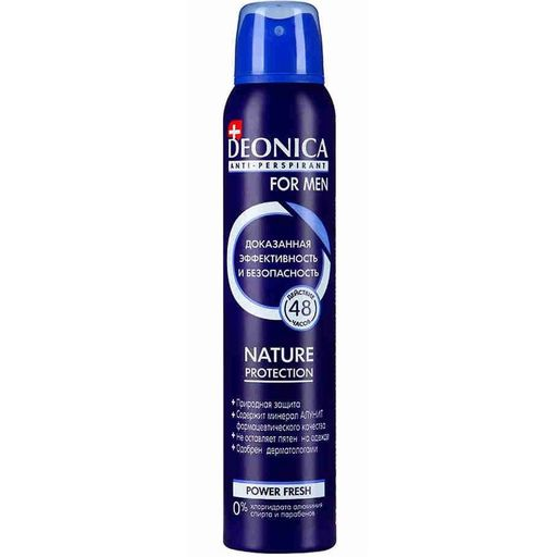 Deonica Антиперспирант Nature protect For men, спрей, 200 мл, 1 шт.